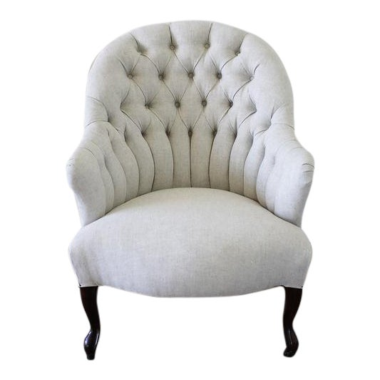 Late 19th Century Napoleon III Style Button Tufted Chair - Image 1 of 6