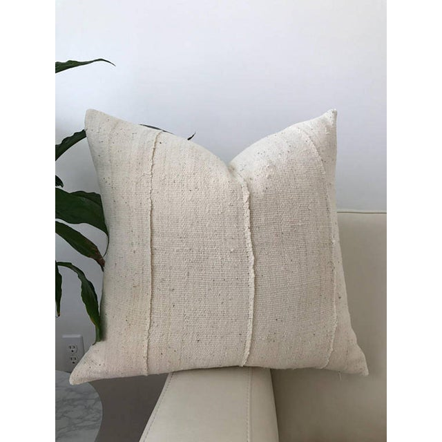 Traditional Ivory Mudcloth Pillow Cover For Sale - Image 3 of 3