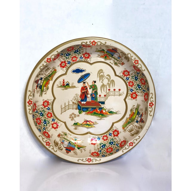 1971 Daher Painted Toleware Bowl For Sale - Image 4 of 6