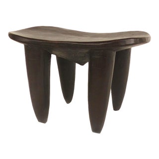 African Hand-Carved Stool From Cote d'Ivoire For Sale