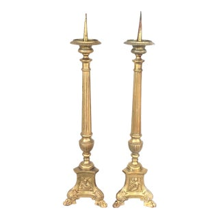 Antique French Cathedral Torchières - a Pair For Sale