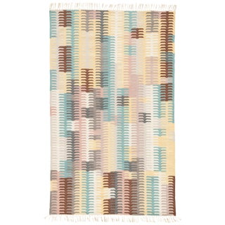 Jaipur Living Carver Abstract Turquoise & Yellow Area Rug - 8' X 10'