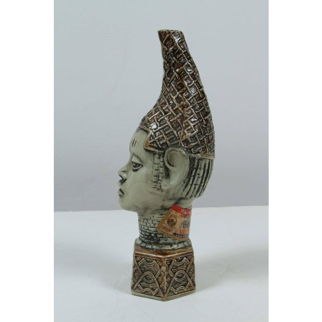 Handmade and hand-painted in Italy, ceramic figure of African Queen mother. A 20th century Benin Queen Mother...