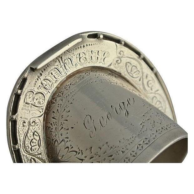 Antique Silver Signed George Bonheur, Napkin Ring - Image 4 of 6