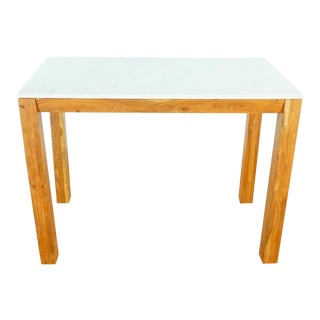 Modern Cb2 Palate Marble High Counter Table For Sale