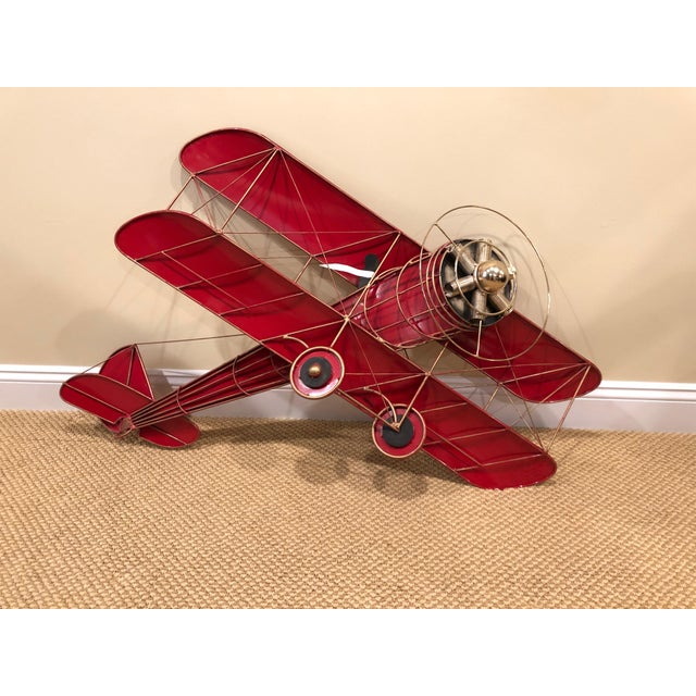 1980s Vintage Curtis Jere Airplane Wall Sculpture For Sale - Image 13 of 13
