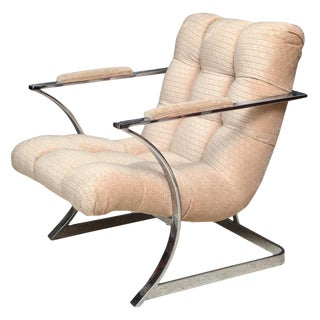 Milo Baughman Arm Chair For Sale