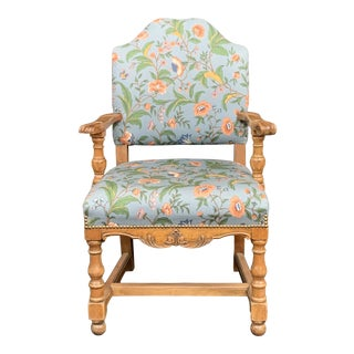 "Antique Floral ""Company"" Chair For Sale"