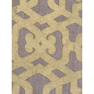 Transitional Kravet Couture Modern Elegance - Saffron Silk Linen Embroidery Fabric For Sale