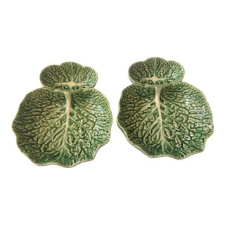 2000s Portuguese Bordallo Pinheiro Serving Dishes - a Pair For Sale