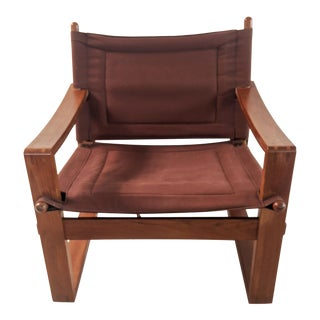 1960s Danish Modern Borge Jensen Safari Sling Armchair For Sale