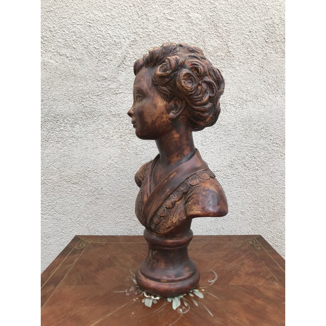Early Century French Plaster Bust For Sale - Image 4 of 8