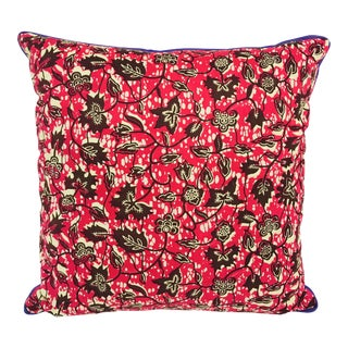 Purple/Red & Purple Backed African Wax Print Pillow