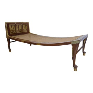 Early 20th C. Egyptian Revival Chaise Lounge