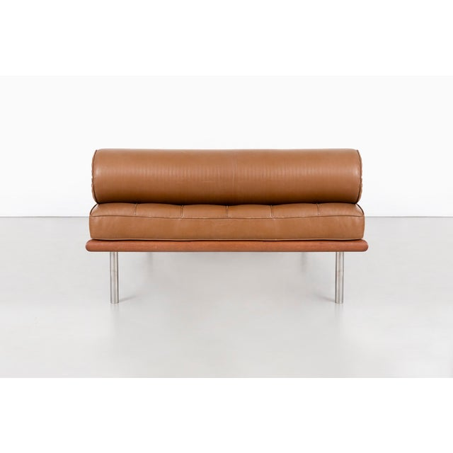 Mies Van Der Rohe Barcelona Couch for Knoll For Sale In Chicago - Image 6 of 11
