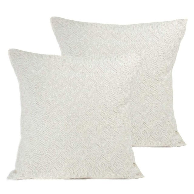 San Cristobal Brocade Pillow Covers - a Pair - Image 1 of 4