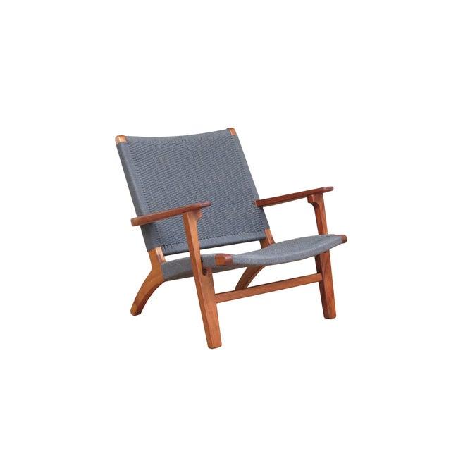Mid Century Modern Gray Mahogany Lounge Chair - Image 2 of 5