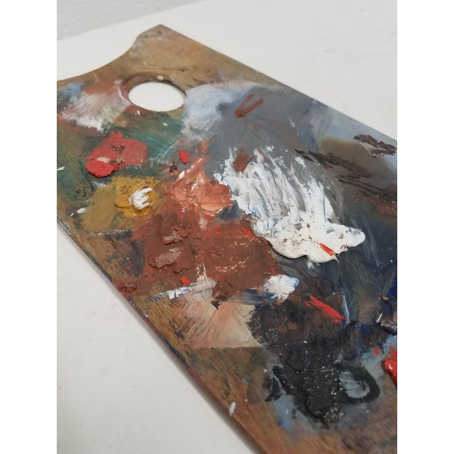 Late 19th Century Antique English Artist Palette For Sale - Image 5 of 11