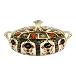 Royal Crown Derby Covered Vegetable Dish in Old Imari Pattern For Sale