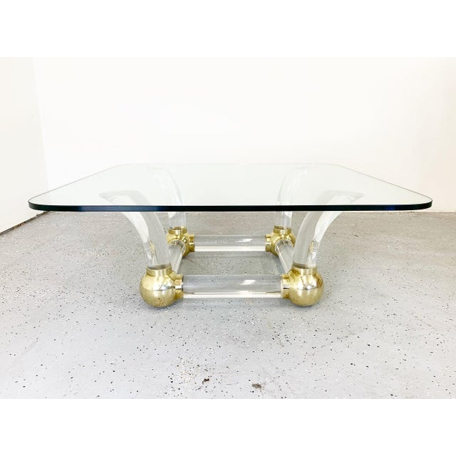 Metal 1980s Hollywood Regency Karl Springer Style Cocktail Table For Sale - Image 7 of 7