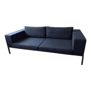 Mid-Century Modern Charcoal Sofa For Sale