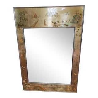 LaBarge Mirror Eglomise Mirror For Sale