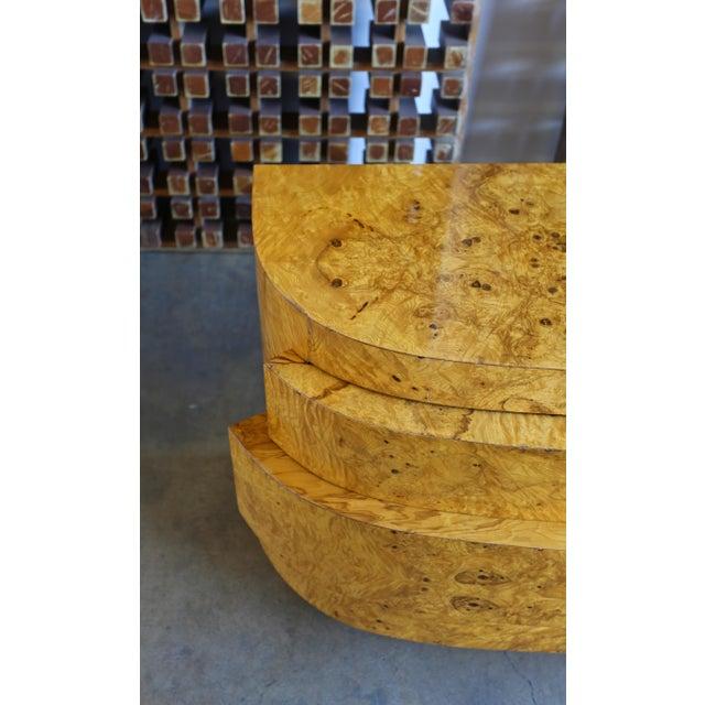 1980s Vintage Sculptural Burl Wood Chest For Sale - Image 4 of 11