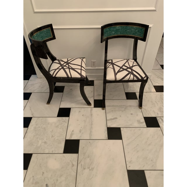 Vintage Maitland Smith Klismos Style Chairs- a Pair For Sale - Image 6 of 6