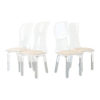 Deco Revival Lucite Dining Chairs - Set of 4