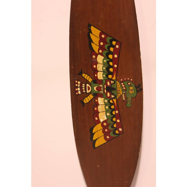 Late 19th C. Antique Northwest Native American Wood Paddle For Sale - Image 4 of 4