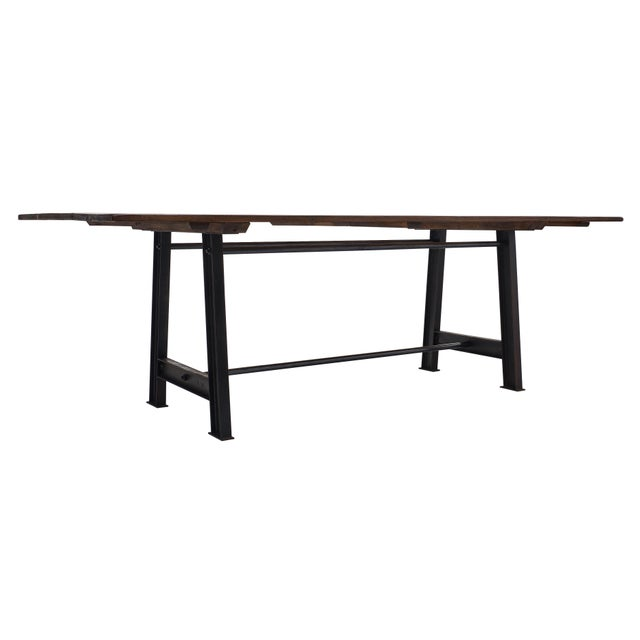"""Metal """"Atelier"""" French Farm Table For Sale - Image 7 of 10"""