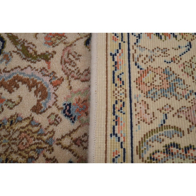 "Almond Karastan Tabriz 2'6""x4'3"" Throw Rug (A) For Sale - Image 8 of 12"