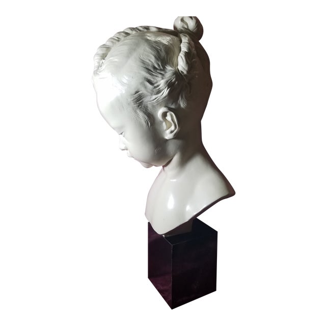 "1978 Austin Production Inc. ""Bust of a Little Girl"" - Slay Reproduction Sculpture For Sale"