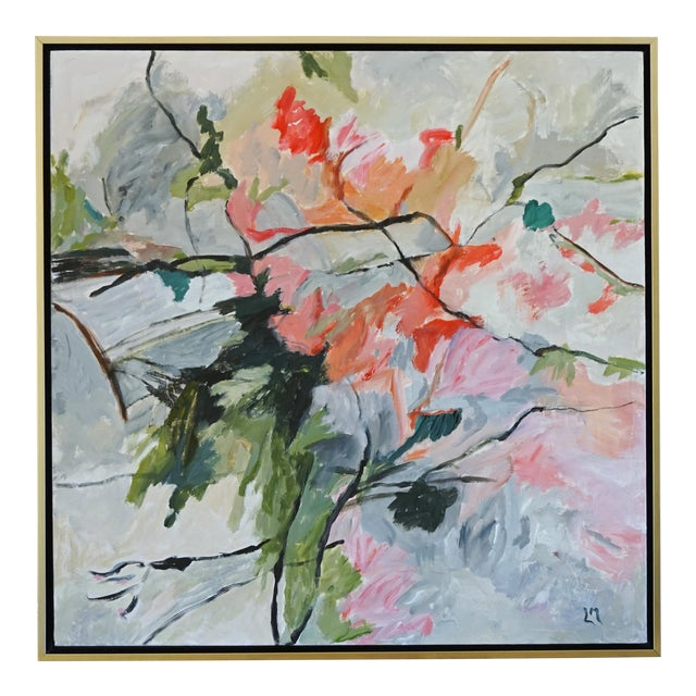 """""""Life Cycle"""" Floral Painting For Sale"""