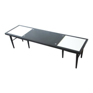 Merton Gershun for American of Martinsville Ebonized Long Coffee Table For Sale