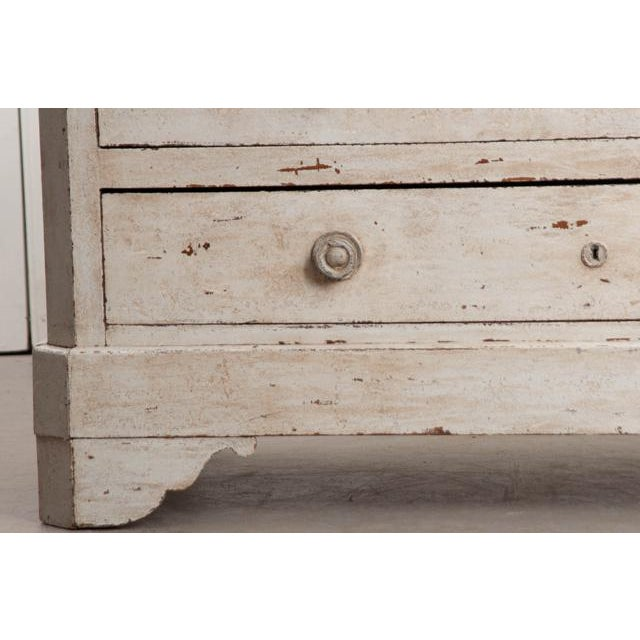 French 19th Century Painted Commode With Marble Top For Sale - Image 4 of 12