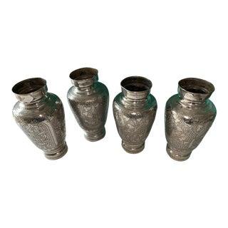 Moroccan Hammered Design Vases - For Sale