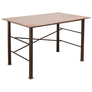 Modern Industrial Steel Desk Work Table For Sale