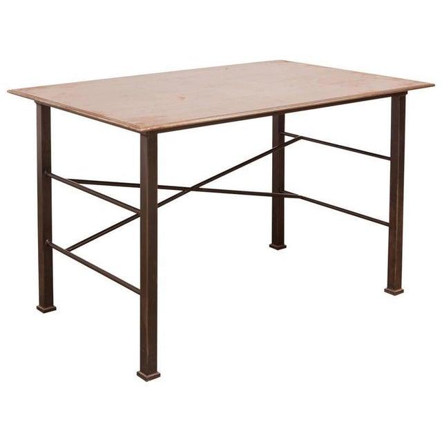 Modern Industrial Steel Desk Work Table For Sale