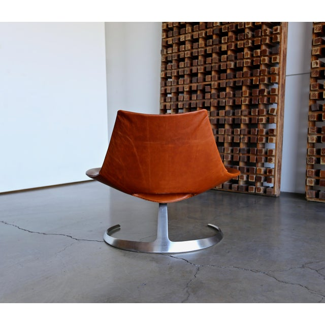 Brown Preben Fabricius & Jørgen Kastholm Scimitar Chairs by Ivan Schlecter Circa 1965 For Sale - Image 8 of 11