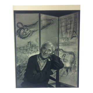 "Black & White Print on Paper, ""Marc Chagall"" by Yousuf Karsh, 1967 For Sale"