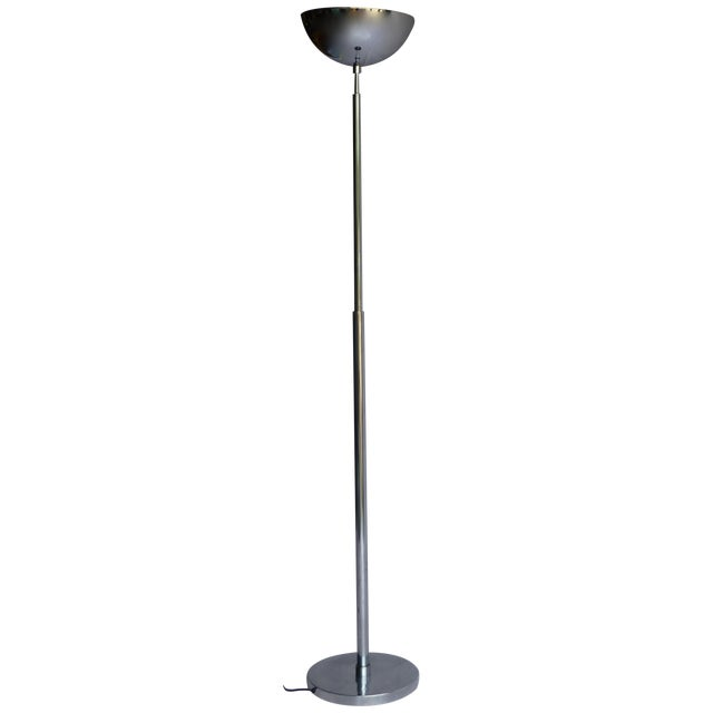 Vintage Italian Chrome Floor Lamp For Sale - Image 7 of 7