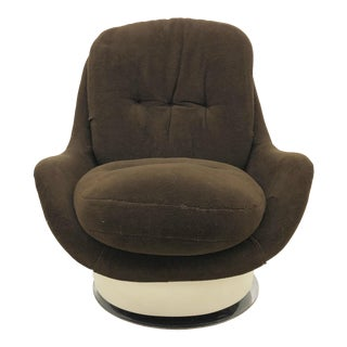 1960s Space Age Fiberglass Milo Baughman for Thayer Coggin Swivel Lounge Chair For Sale