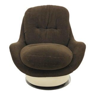 1960s Vintage Space Age Fiberglass Milo Baughman for Thayer Coggin Swivel Lounge Chair For Sale