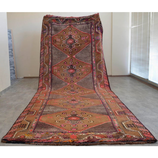 Hand Knotted Natural Colors Tribal Rug - 5′3 ″ x 13′1″ - Image 2 of 10