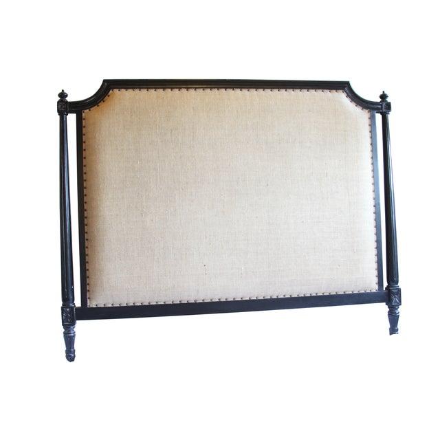Burlap Upholstered Queen Headboard - Image 1 of 3