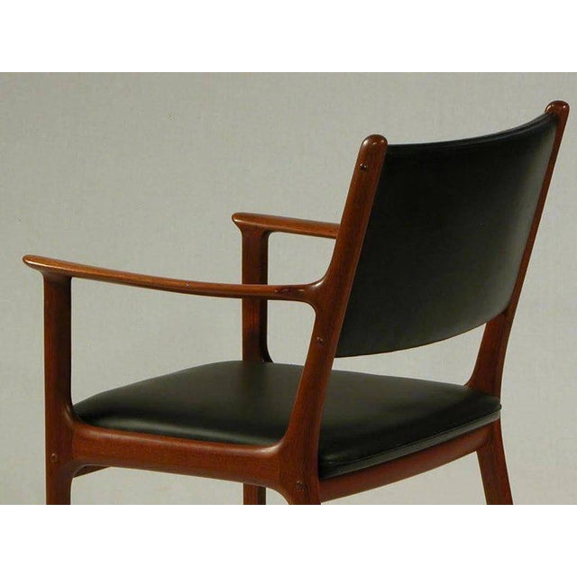 1950s Ole Wanscher PJ 412 Mahogany Armchair For Sale In Madison - Image 6 of 7