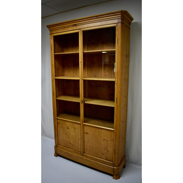 French French Pine Glazed Bookcase For Sale - Image 3 of 13