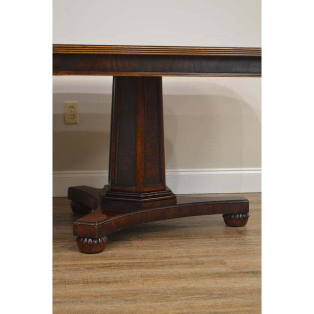 1990s Henredon Historic Natchez Collection Flame Mahogany Regency Dining Table For Sale - Image 5 of 12