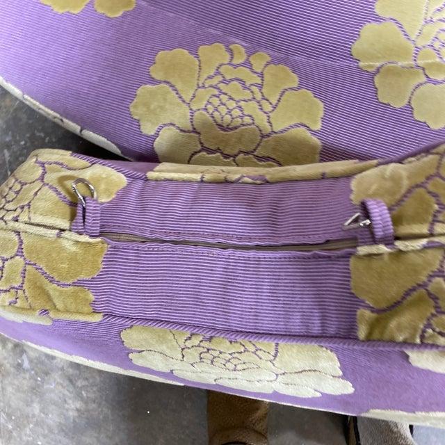 Lavender John Boone Custom Upholstered Circular Sofa For Sale - Image 8 of 13